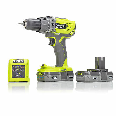 View Details Ryobi R18PD3-215GU 18V ONE+ Hammer Drill, 2x 1.5Ah Batteries And Charger • 83.99£