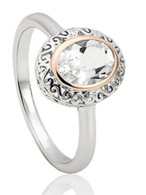 Clogau Gold  Looking Glass Ring Size Q • 23£