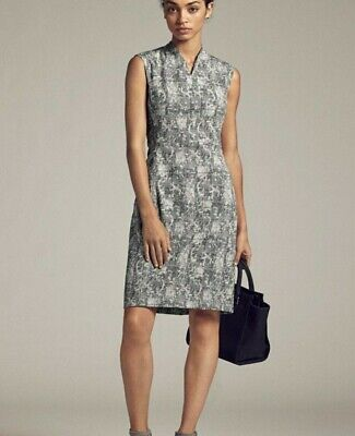 $ CDN91.29 • Buy NWT MM. LaFleur Shift Dress Aditi 2 Sleeveless V-Neck Crackle Black Ivory