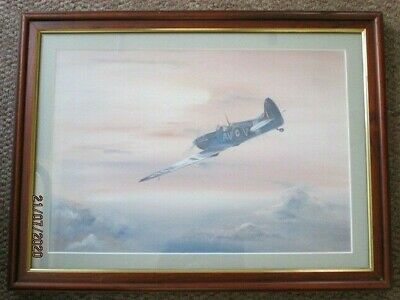 £10 • Buy Supermarine Spitfire - Framed Print Of A Painting + Related Book By Chaz Bowyer