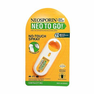 Neosporin + Pain Relief Neo To Go! No-Touch Spray,  0.26 Fl Oz, 1 Each,  By John • 7.12£