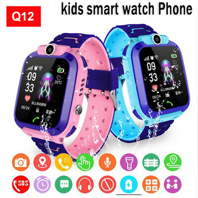 AU18.79 • Buy Waterproof Smart Watch With GPS GSM Locator Touch Screen Tracker SOS For Kids