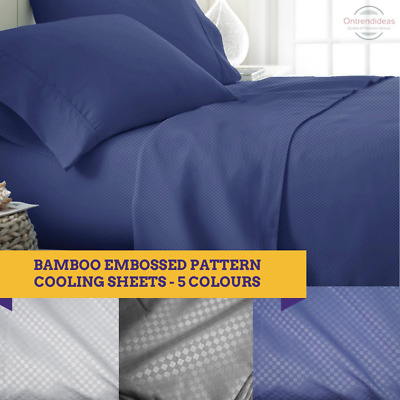 AU49 • Buy 2000TC Bamboo Cooling Embossed Sheet Set | Hypo-Allergenic Sheets Ramesses Brand