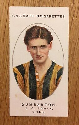 Cigarette Card Dumbarton Player By F. J Smith 1917 Football Club Records 1917 • 15.50£