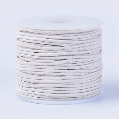 $ CDN15.14 • Buy 50m/roll 2mm Elastic Cord Polyester Outside And Latex Core For Jewelry Making