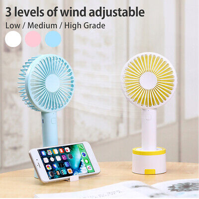 AU19.94 • Buy Hand-held Portable Mini Fan Desk Air USB Cooling Rechargeable Adjustable NEW