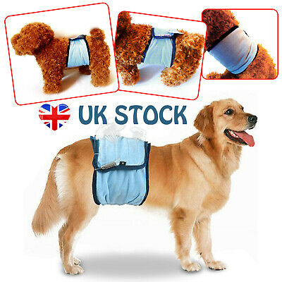 S-XL Male Dog Puppy Nappy Diapers Belly Wrap Band Sanitary Physiological Pants • 6.79£