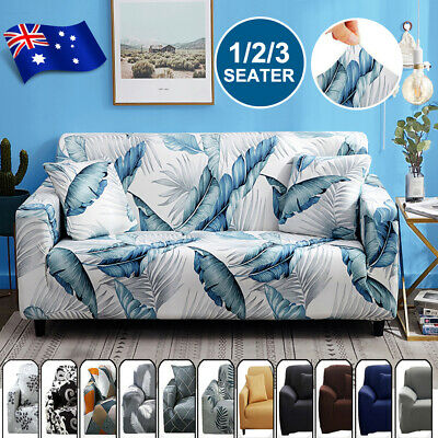 AU20.23 • Buy Sofa Covers 1/2/3 Seater Stretch Lounge Chair Slipcover Protector Couch Washable