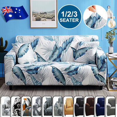 AU22.09 • Buy Sofa Covers 1/2/3 Seater Stretch Lounge Chair Slipcover Protector Couch Washable