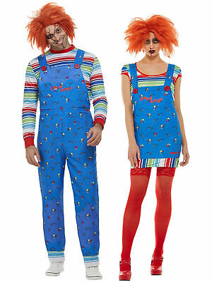 £25.95 • Buy Adult Chucky Costume Mens Ladies Killer Doll Halloween Horror Fancy Dress Outfit