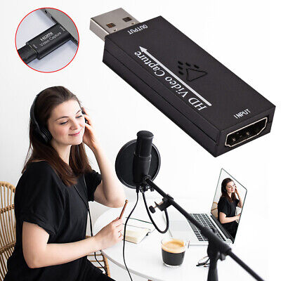 Portable HDMI To USB 2.0 Video  Card Gaming HD 1080P Live Stream Recorder • 8.61£