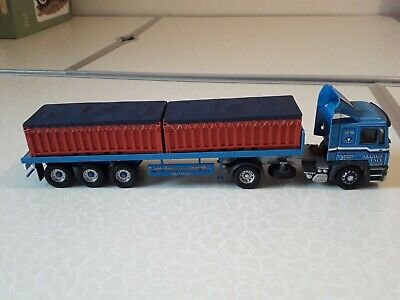 Corgi Trucks 1/50 CC12004 MAN Flatbed Trailer With Container Load A R R Craib • 14£