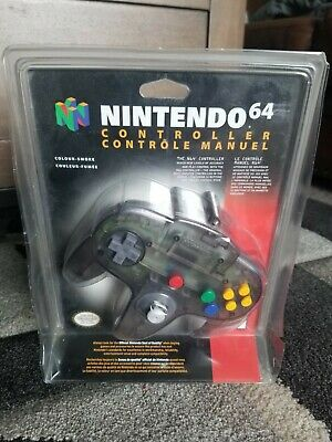 $ CDN400 • Buy NEW OEM Nintendo 64 N64 Authentic Smoke Grey Funtastic Controller Blister Sealed