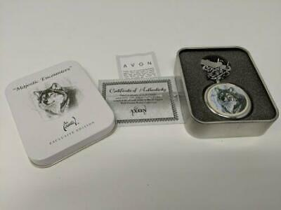 $24.95 • Buy Avon - Al Agnew - Majestic Encounters Wolf Pocket Watch In Collectible Tin *new*