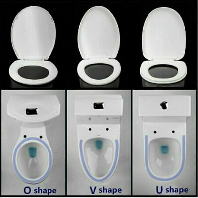 £14.99 • Buy Toilet Seat Soft Close White O V U Shape Heavy Duty Quick Release Fixing Hinges