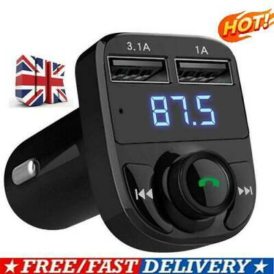 Wireless Bluetooth Car Kit FM Transmitter MP3 Player 2Port USB Charger Handsfree • 5.29£