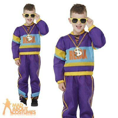Child 80s Relax Costume Boys Shell Suit Frankie Says Music Book Day Fancy Dress • 16.99£