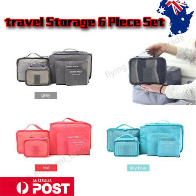 AU8.79 • Buy 6Pcs Travel Luggage Organizer Packing Cubes Clothes Storage Bags Pouch Suitcase