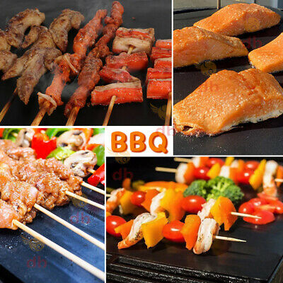 AU12.99 • Buy BBQ Grill Mat Reusable Bake Sheet Resistant Teflon Meat Barbecue Non-Stick Party