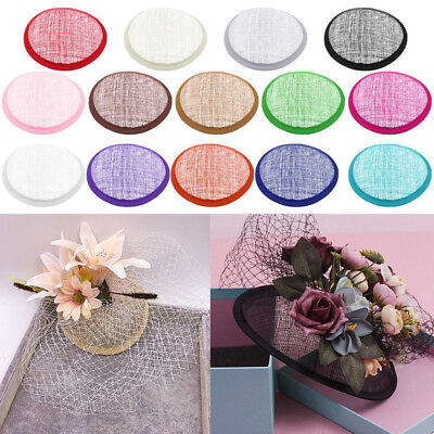 £1.99 • Buy New DIY Round Sinamay Base For Fascinator Party Hat Millinery Craft Making
