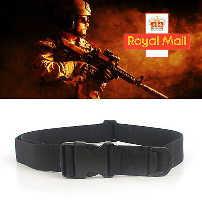 Quick Release Buckle Military Trouser Waist BELT Army Tactical Canvas Webbing UK • 2.99£