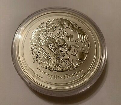 AU380 • Buy 2012 $8 Year Of The Dragon 5oz Silver Bullion Coin In Capsule Brand New
