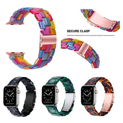 $ CDN12.53 • Buy For Apple Watch Series 5 4 3 2 1 Luxury Resin IWatch Band Strap 38/42/40/44mm