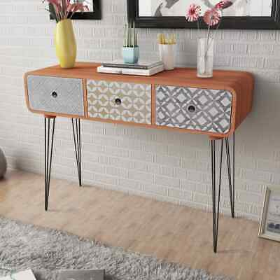 AU179.95 • Buy Console Table 3 Drawer Storage Cabinet Unit Hallway Lounge Living Room Furniture