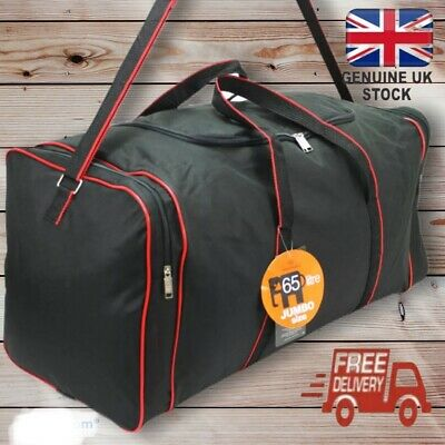 Lightweight X-Large Travel Holdall Duffel Sports Holiday Luggage Bag Black 65-L • 11.95£