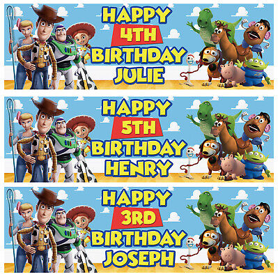 £3.99 • Buy 2 Personalised Toy Story Birthday Banner Children Nursery Kid Party Decoration