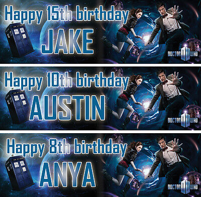 £3.99 • Buy 2 X Personalized Doctor Who Birthday Banner Nursery Children Party Decoration
