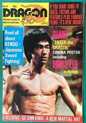 £40 • Buy Dragon. Kung Fu Poster Magazine #8. 1970s. Bruce Lee Fold-out Poster