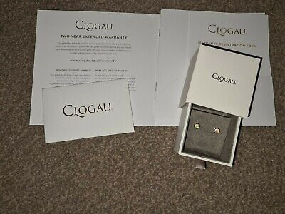 NEW Clogau Silver & Rose Gold Fire Opal October Birthstone Earrings New • 49£