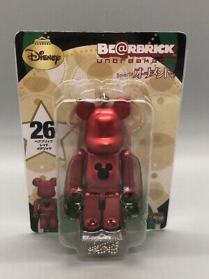 $9.99 • Buy RARE Medicom 100% Bearbrick Disney Mickey Mouse Happy Kuji USsell Xmas Ornament