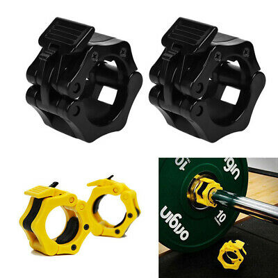 $ CDN9 • Buy 2PCS Gym Training Weight Clamps Collars Dumbbell Olympic Barbell Bar Lock Sports