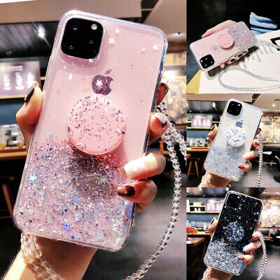 GLITTER PULL UP HOLDER Case For IPhone 12 SE 2 XR X 11 Pro 7 Plus 8 XS Max Cover • 3.99£