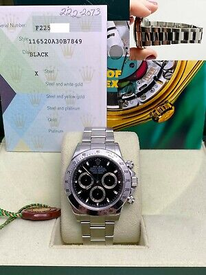 $ CDN24391.32 • Buy Rolex Daytona 116520 Black Dial Stainless Steel Box Papers UNPOLISHED 2004