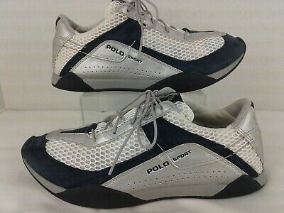 $19.99 • Buy Womens Polo Sport Ralph Lauren Sneakers Size 7.5  White Blue Silver Shoes