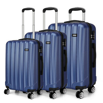 Set Lightweight Purple Hard Shell Cabin Suitcase 4 Wheel Luggage Trolley Case • 35.99£