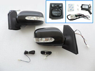 $280 • Buy Power Fold LED Signal Side Mirror+SWITCH+Wiring For 03 ~08 TOYOTA COROLLA  ALTIS