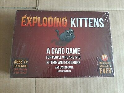 AU20.90 • Buy EXPLODING KITTENS Card Game - Original Edition New Sealed