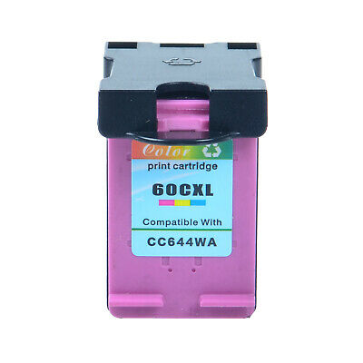 $11.99 • Buy 60 XL Color Ink Cartridge For HP Deskjet D1660 D2500 D5560 F4210 F4435 Printers