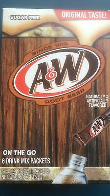 A&W Root Beer  6 X Singles To Go Sachets 15g From The USA • 4.99£