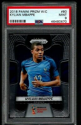 $ CDN535.28 • Buy 2018 Panini Prizm World Cup Kylian Mbappe #80 Rookie  France PSA 9