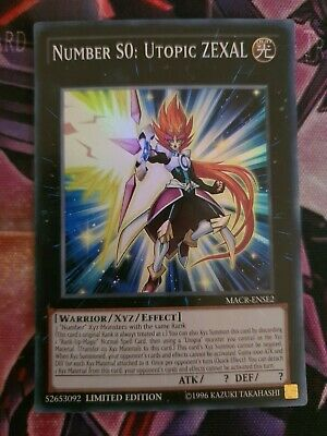 YuGiOh! MACR-ENSE2 Number S0: Utopic Zexal | Super Rare Card |  Limited Edition • 4.29£