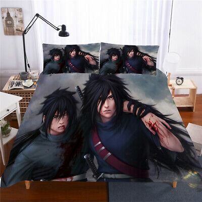 £34.78 • Buy Linen Twin/Full/Queen/King Size Bed Duvet/Quilt Cover Set Anime  Naruto Grey