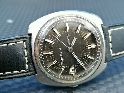 $ CDN345.44 • Buy Vintage Pronto Scopic Diver Watch  Stainless Steel