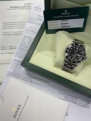 $ CDN12293.96 • Buy Rolex Submariner 16610 Stainless Steel Box Factory Service Paper MINTY