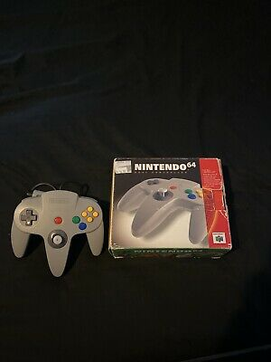 $ CDN39.89 • Buy Official Nintendo 64 N64 Controller Gray With Box Works See Photos For Condition
