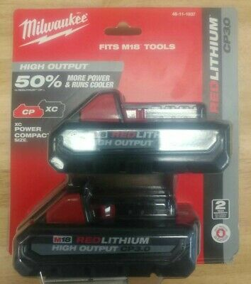 $ CDN154.99 • Buy Milwaukee M18 Red Lithium Ion Battery High Output CP 3.0 - 2 Pack 48-11-1857